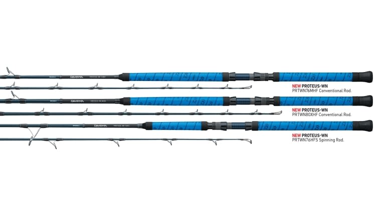 "Daiwa Proteus Winn Spinning Rod ""Blue"" - 76hfs"